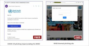 OMS alerta para ataques de phishing usando o tema coronavírus