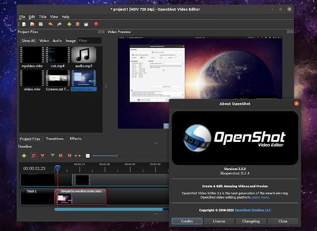 OpenShot 2.5 lançado com suporte à aceleração de hardware experimental