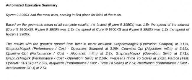 lançado com mais melhorias para análise de resultados de benchmark