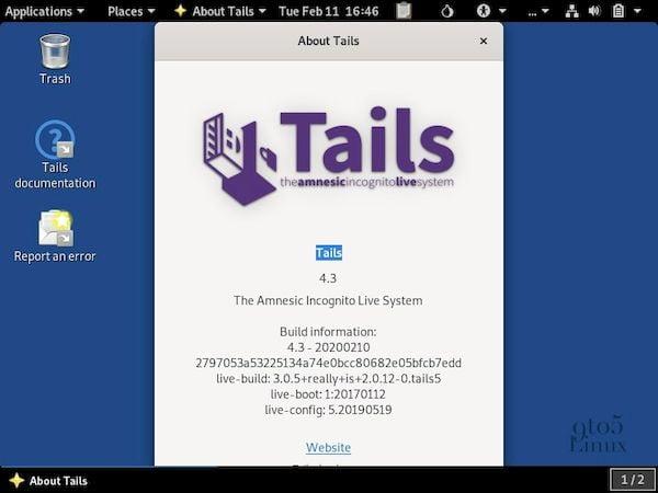 Tails 4.3 lançado com a carteira de criptomoeda da Trezor e mais