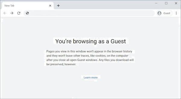 Chrome recebeu o modo Default to Guest para navegação sem estado