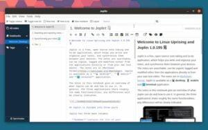 Joplin 1.0.195 lançado com editor experimental WYSIWYG
