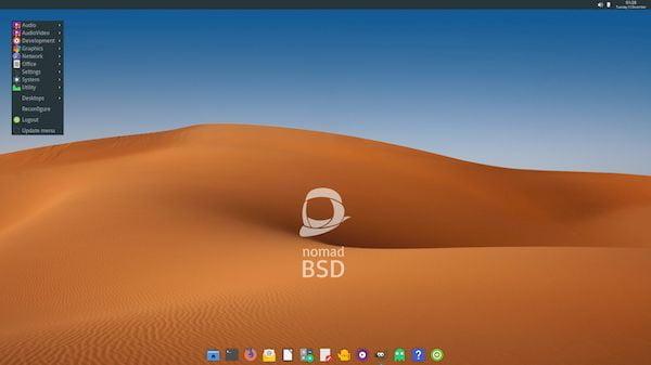 NomadBSD 1.3.1 lançado com várias melhorias e uma ISO maior