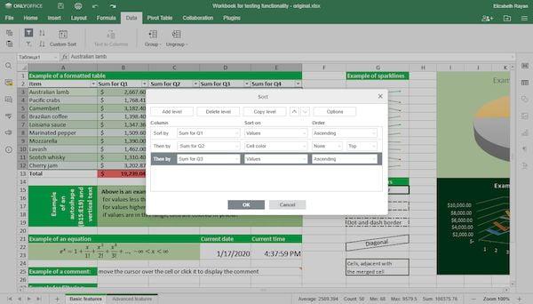 onlyoffice 5 5 lancado com comparacao de documentos e classificacao de dados 3 - OnlyOffice 5.5 lançado com comparação de documentos e classificação de dados