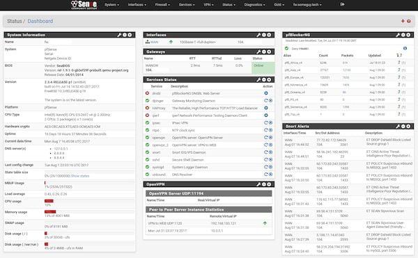 pfSense 2.4.5 lançado com melhorias na interface web e mais