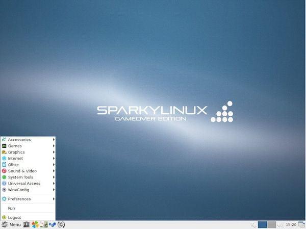 SparkyLinux 2020.03.1 com correção para o bloqueio da inicialização