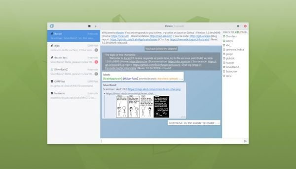 SRain é um novo cliente de IRC GTK para desktops Linux