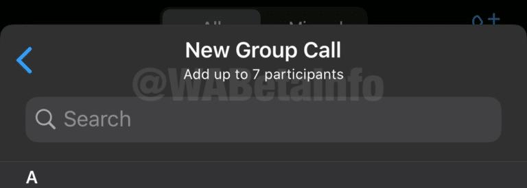 Como ativar a chamada de vídeo para até oito participantes no WhatsApp?