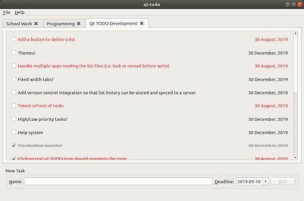 Como instalar o gerenciador de lista de tarefas qt-todo no Linux via Snap