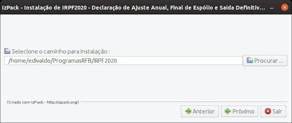 como instalar o programa irpf 2020 no linux via arquivo jar 2 - Como instalar o programa IRPF 2020 no Linux via arquivo JAR