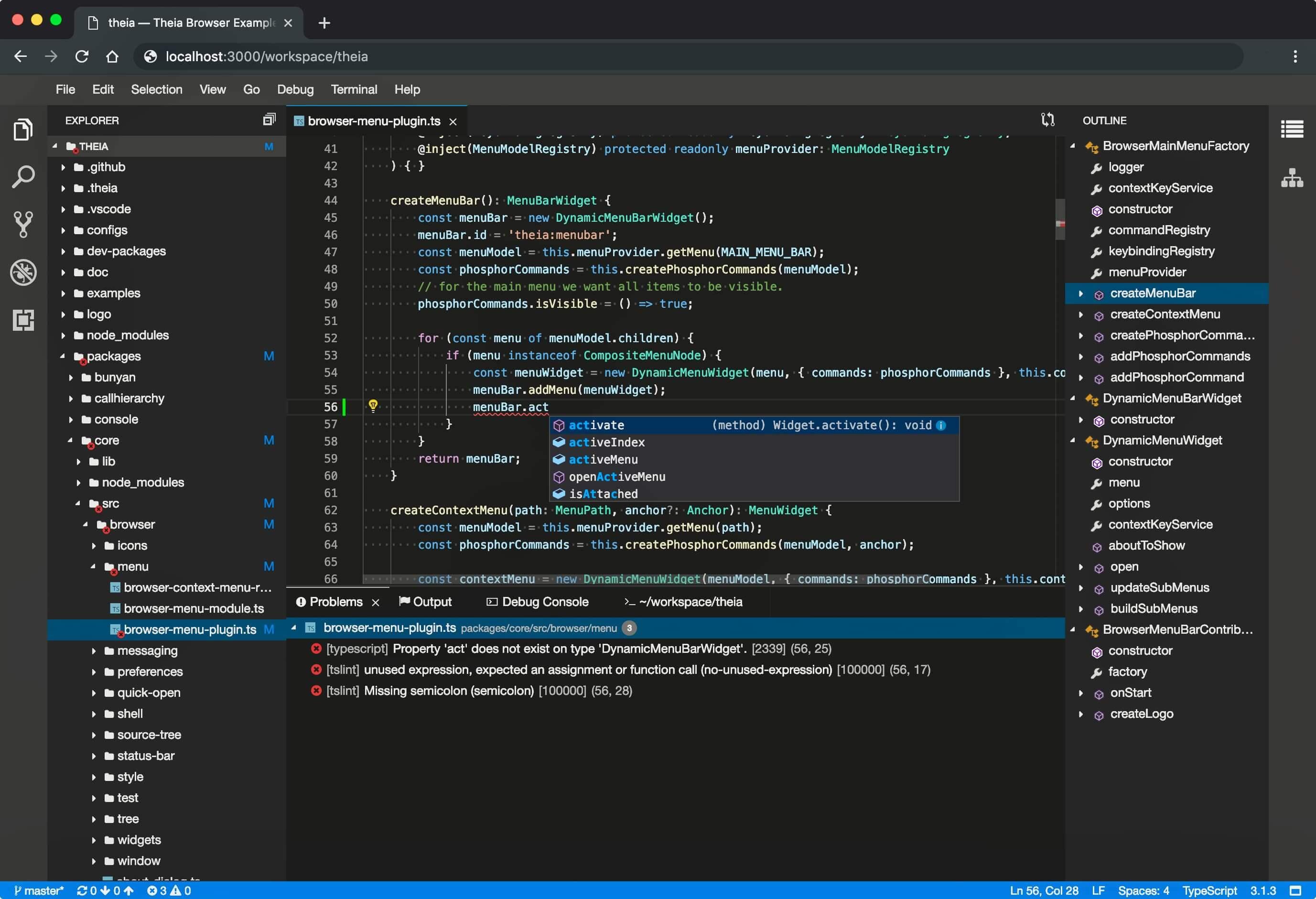 Eclipse Theia 1.0 lançado como a primeira versão dessa plataforma