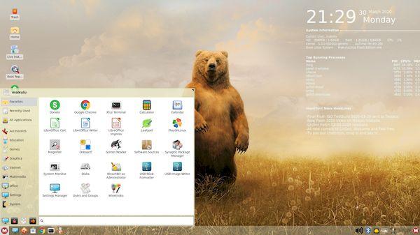 MakuluLinux 2020 Flash lançado com várias melhorias