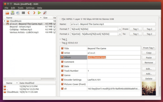 Como instalar o editor de tags de áudio Kid3 no Linux via Snap
