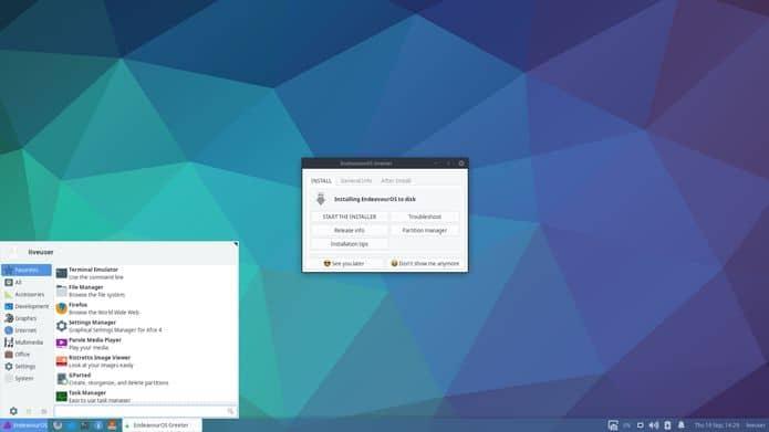 EndeavourOS 2020.05.08 lançado com kernel 5.6.11 e Mesa 20.0.6