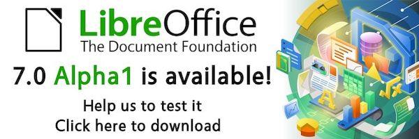 LibreOffice 7.0 alpha já está disponível para testes públicos