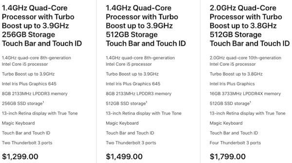 MacBook Pro de 13 lançado com SSD com o dobro de armazenamento