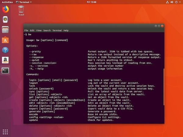 Como instalar a interface Bitwarden CLI no Linux via Snap