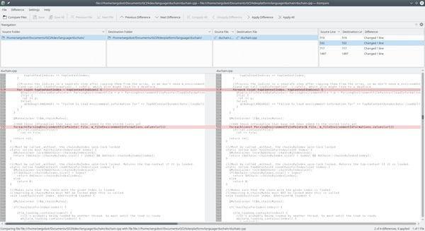 Como instalar comparador de arquivos kompare no Linux via Snap