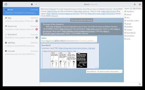 Como instalar o cliente IRC Srain no Linux via Flatpak