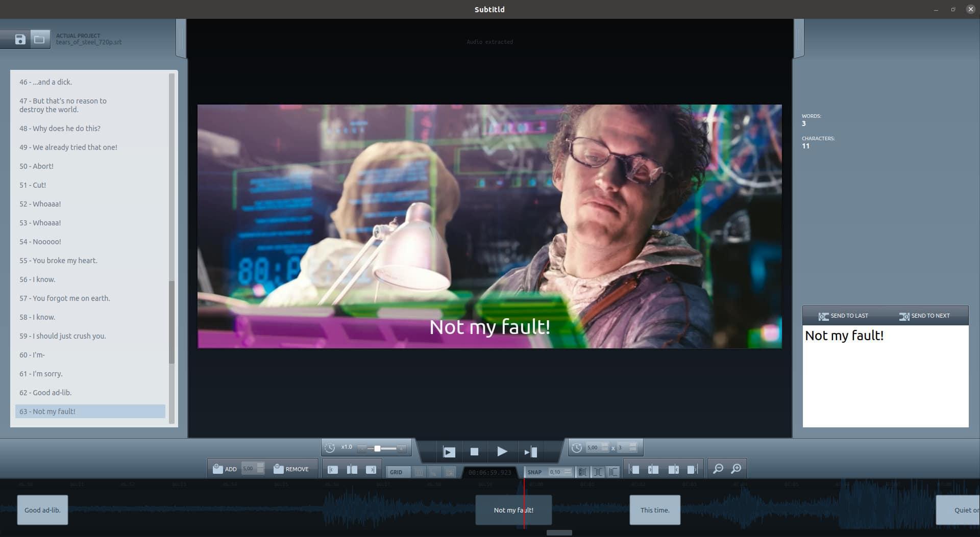 Como instalar o editor de legendas Subtitld no Linux via Snap