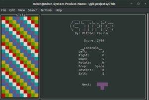 Como instalar o jogo clone de Tétris ctris no Linux via Snap