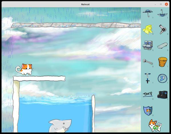 Como instalar o jogo de quebra-cabeça Raincat no Linux via Snap
