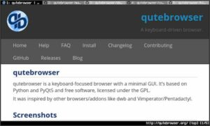 Como instalar o navegador estilo Vim qutebrowser no Linux via Flatpak