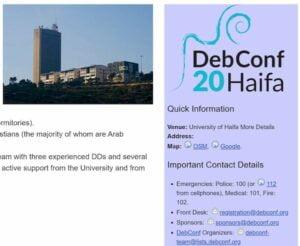 DebConf20 Debian Developer Conference será online