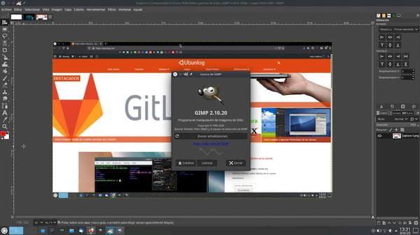 GIMP 2.10.20 lançado com melhorias no suporte para o formato PSD