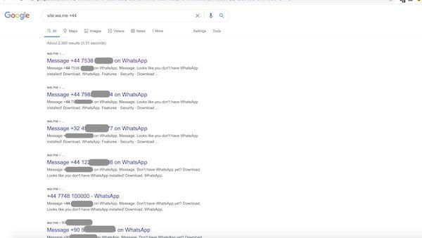 Google está indexando os números de telefone usados no WhatsApp e isso levanta preocupações com a privacidade