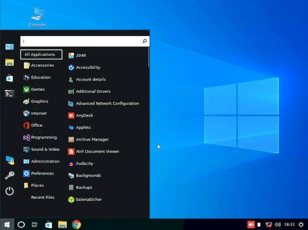 Linuxfx 10 é uma maneira fácil de fazer a transição do Windows