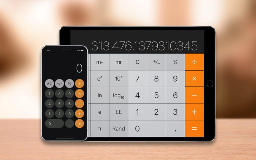 Por que os iPads não têm um aplicativo padrão de calculadora?