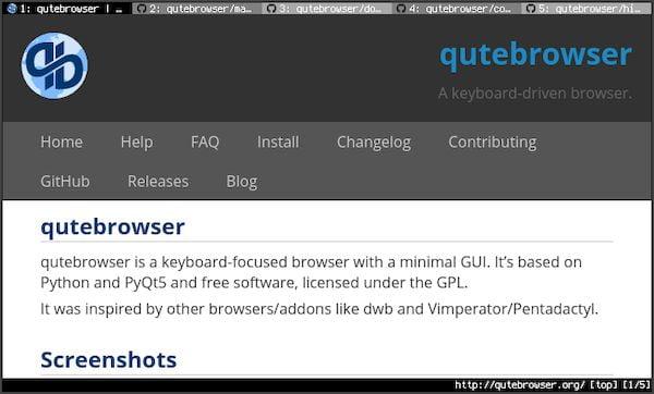 Qutebrowser 1.12.0 lançado com novos comandos! Confira as novidades!