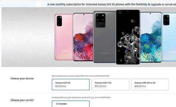 Samsung Access permite trocar smartphones pagando uma taxa mensal