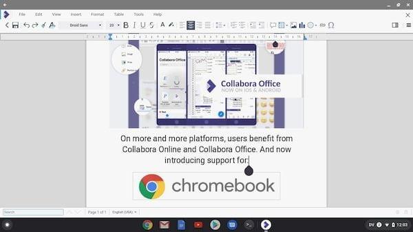 Collabora Office já está disponível para Chromebooks e é baseado no LibreOffice Online