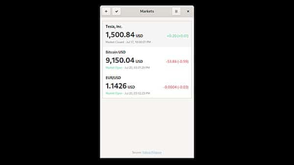 Como instalar o app de cotações Markets no Linux via Flatpak