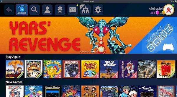 Como instalar o cliente de jogos Antstream Arcade no Linux via Snap
