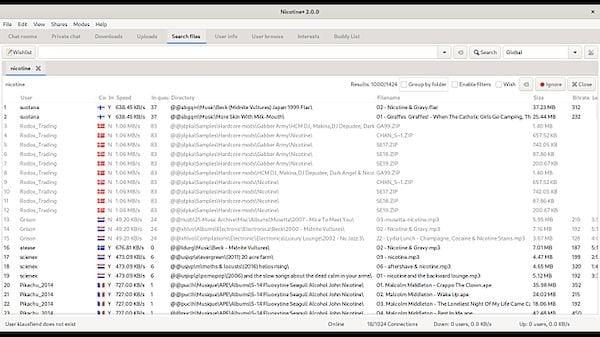Como instalar o cliente p2p para Soulseek Nicotine+ no Linux via Flatpak