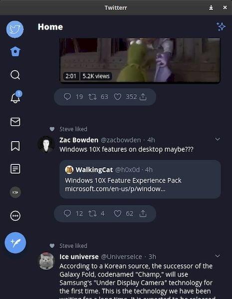 Como instalar o cliente Twitter Twitterr no Linux via Snap