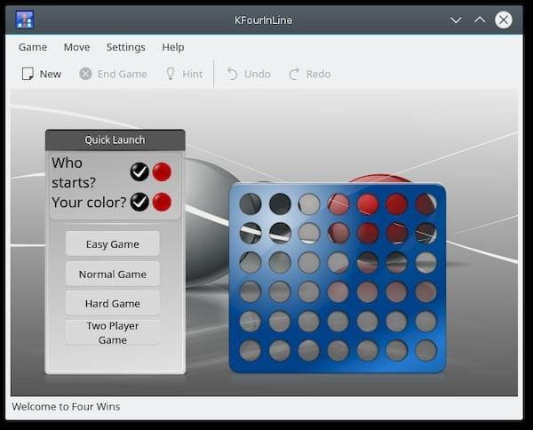Como instalar o divertido jogo kfourinline no Linux via Snap