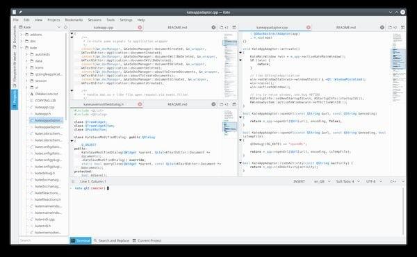 Como instalar o editor de texto avançado Kate no Linux via Flatpak
