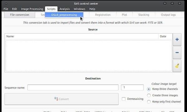 Como instalar o processador de imagens Siril no Linux via Flatpak