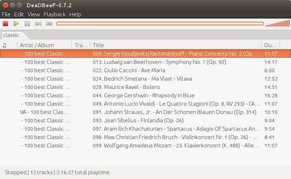 Como instalar o reprodutor de músicas DeaDBeeF no Linux via Snap