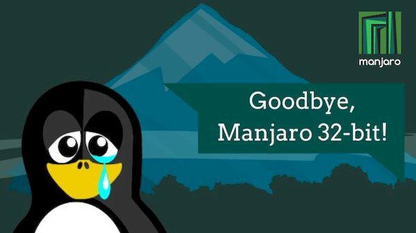 Manjaro abandonou permanentemente o suporte a 32 bits