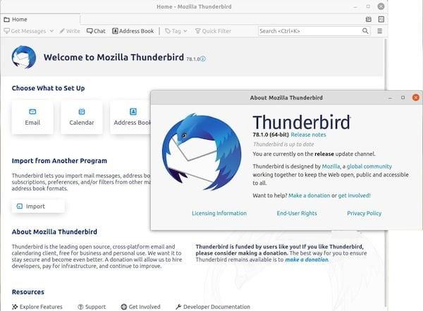 Mozilla Thunderbird 78.1 lançado com suporte completo ao OpenPGP e mais