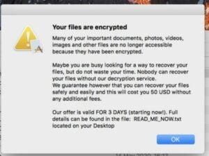 Novo Ransomware para Mac se espalha por meio de aplicativos piratas