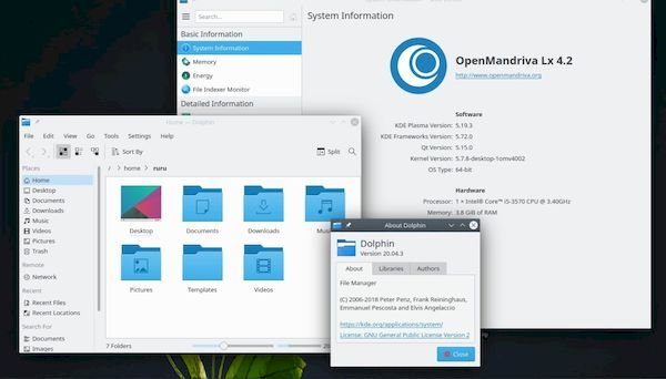 OpenMandriva Lx 4.2 Alpha lançado com kernel 5.7 e KDE Plasma 5.19