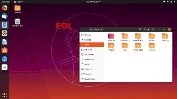 Ubuntu 19.10 chegará ao fim da vida no dia 17 de julho de 2020