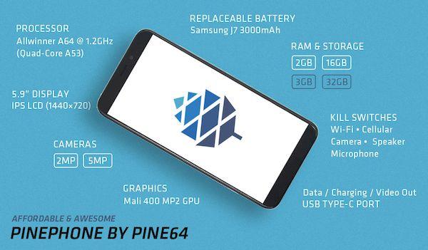 Pine64 anunciou o próximo PinePhone Community Edition com Manjaro